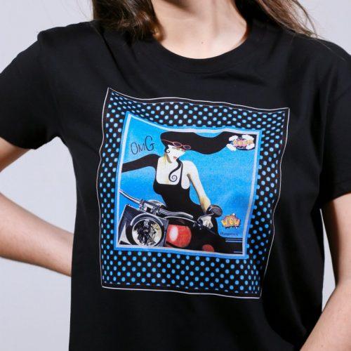 T-shirt woman motor handmade