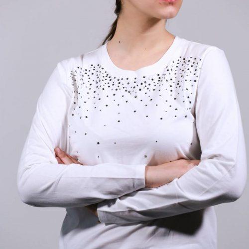 T-shirt  λευκό με strass
