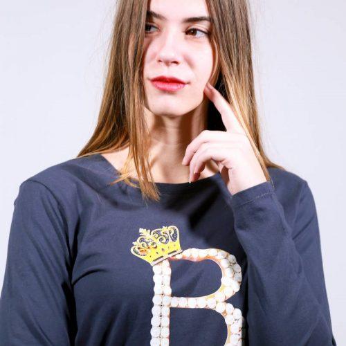 T-shirt με  Μονόγραμμα & swarovski