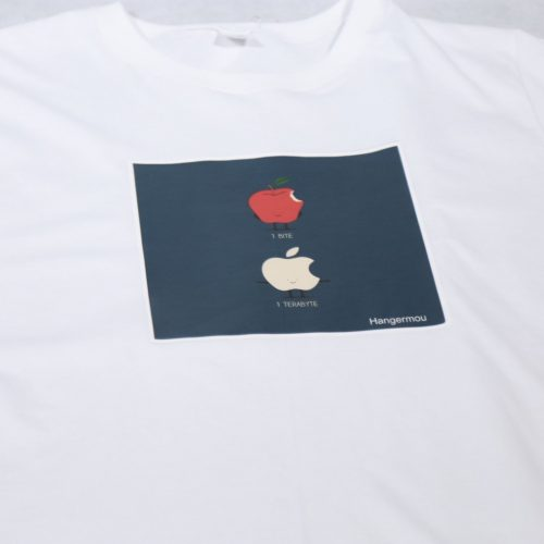 T-shirt set Apple bite