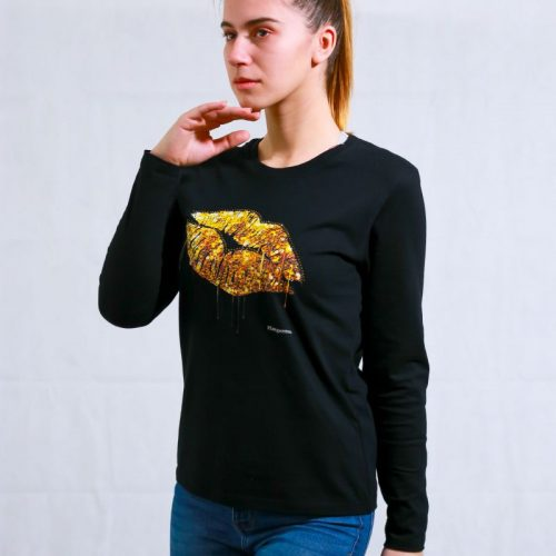 T-shirt Golden Lips