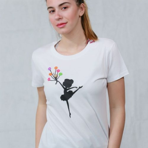 T- shirt ballarina & balloons