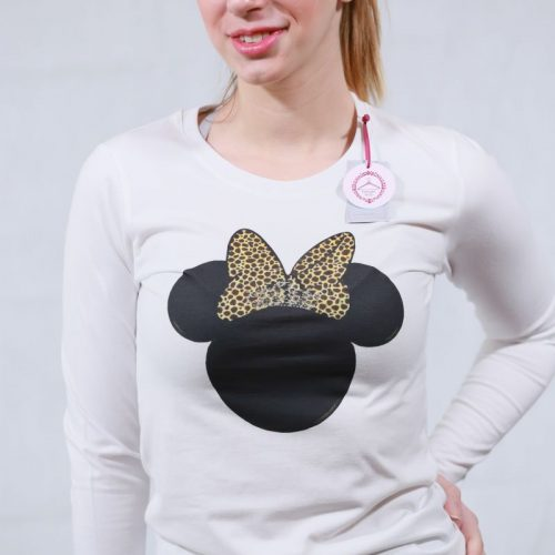 T-shirt λευκό με την Minnie animal print