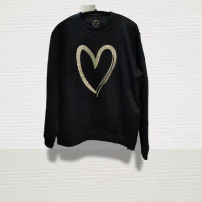 Φούτερ με χρυσή καρδιά #2021.4