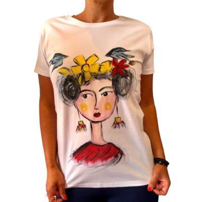 T-shirt κοπέλα ζωγραφισμένη στο χέρι 2021.21