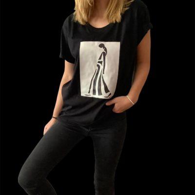 T-shirt black & white woman 2021.26