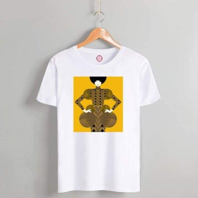 T-shirt baroque lady white 2021.16