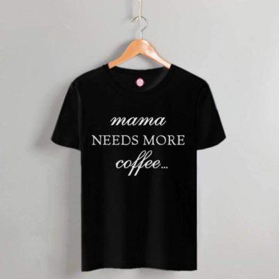 T-shirt mama coffee black 2021.18