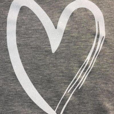 Φούτερ με λευκή καρδιά γκλίτερ 2021.31
