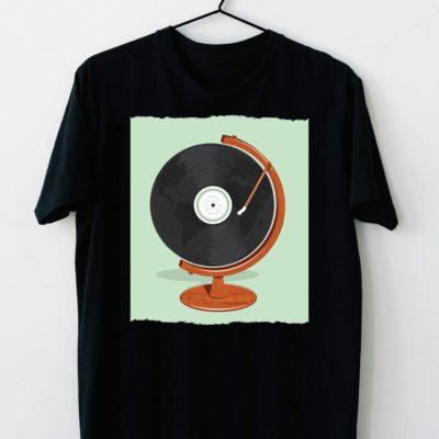 T-shirt Record player retro #2021.45