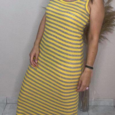 Φόρεμα μακρύ με αθλητική πλάτη #2021.114