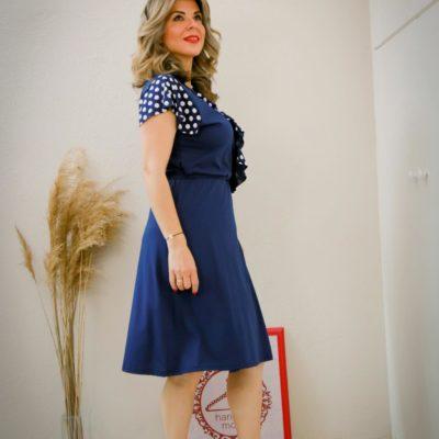 Dream Polka dots blue krouaze dress #2021.104