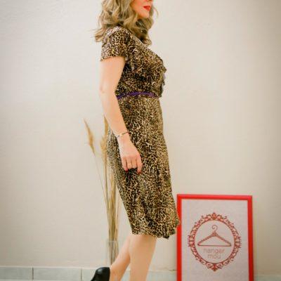 Leopard krouaze dress #2021.103