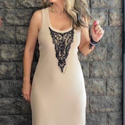 Nude dress Vasiliki #2021.130