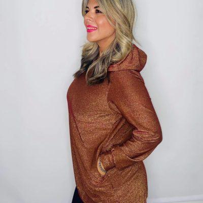 Lurex glamorous hoodie