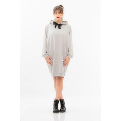 Φούτερ φόρεμα με φιόγκο Marily