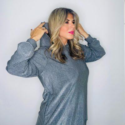 Silver glamorous hoodie
